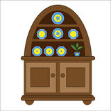 Welsh Dresser Display Cabinet Royalty Free Stock Photo