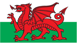 Welsh Flag. A vector image of the Welsh flag