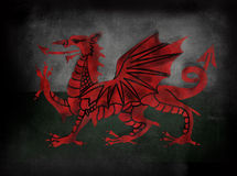 Welsh Flag in Chalkboard blackboard illustrative style Royalty Free Stock Images