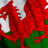 Welsh Flag Closeup Stock Photos