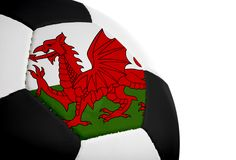 Welsh Flag - Football Royalty Free Stock Image