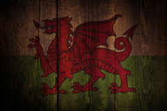 Welsh flag. Stock Photo