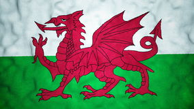 Welsh Flag Seamless Video Loop stock footage
