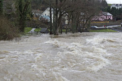 Welsh flooding through the streets Stock Image