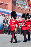 The Welsh Guards Regiment Stock Photo