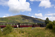 Welsh Highland vintage railway Stock Photo
