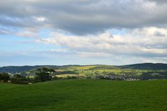 Welsh Hills. Welsh landscape with a view over the hills in Conwy North Wales Royalty Free Stock Images