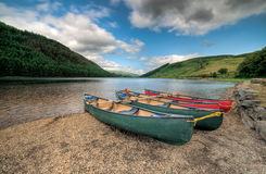 Welsh Lake. Geirionydd lake lies in a valley near Capel Curig and Betws y Coed, North Wales UK, where the northern edge of the Gwydyr Forest meets the lower Royalty Free Stock Images