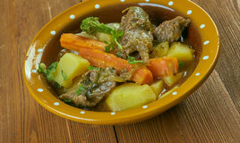 Welsh Lamb Hotpot. With Vegetables - Cawl Royalty Free Stock Photos