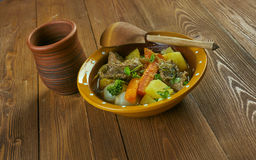 Welsh Lamb Hotpot. With Vegetables - Cawl Stock Images