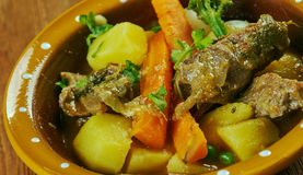 Welsh Lamb Hotpot. With Vegetables - Cawl Royalty Free Stock Image