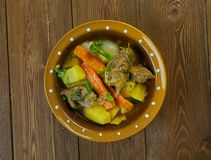 Welsh Lamb Hotpot. With Vegetables - Cawl Royalty Free Stock Images