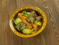 Welsh Lamb Hotpot. With Vegetables - Cawl Royalty Free Stock Photo
