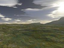 Welsh Landscape - 1. Digital render of a Welsh mountain landscape stock illustration
