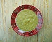 Welsh Leek Soup. British Food Stock Photos