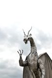 Welsh metal dragon sculpture Stock Photography
