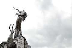 welsh metal dragon sculpture Royalty Free Stock Photography
