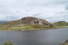Welsh Mountain and Lake. Stock Photo