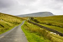 Welsh Mountain Road Royalty Free Stock Photography