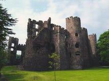 Welsh ogród i kasztel Obraz Royalty Free