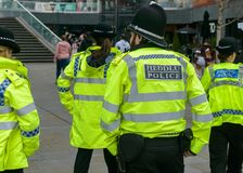 Welsh Police Officers royalty free stock image