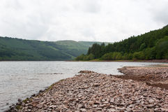 Welsh Reservoir View Royalty Free Stock Image