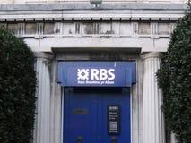 Welsh Royal Bank of Scotland branch Royalty Free Stock Photo