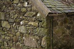 Welsh Stone Barn. In need of repair Royalty Free Stock Photography
