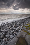 Welsh stormy beach Royalty Free Stock Images