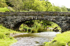 Welsh Stream. A bridge over a stream in North Wales Stock Photography