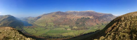 Welsh valley panorama. Showing rural / agricultural landscape, Wales, United Kingdom Royalty Free Stock Photography