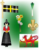 Welsh Vector Illustrations Stock Photo