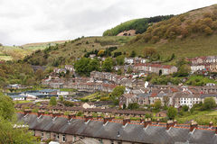 Welsh village of Cwmtwrch Royalty Free Stock Image
