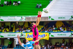 Welsh Warriors beat Argentina at Safaricom Sevens 2014 Royalty Free Stock Images