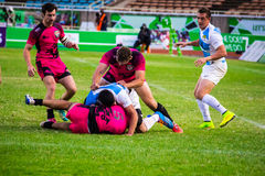 Welsh Warriors beat Argentina at Safaricom Sevens 2014 Stock Photo
