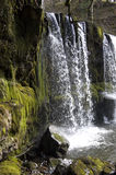 Welsh waterfall. A side on view of one of the many waterfalls in the Brecon Beacons National Park of Wales Stock Photo