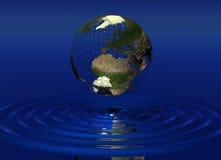 Welt über Wasser Stockbild