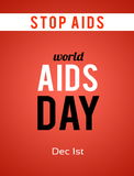Welt-Aids-Tag 1. Dezember Stockfotos