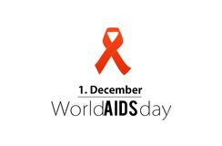 Welt-Aids-Tag 1. Dezember Stockfoto