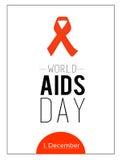 Welt-Aids-Tag 1. Dezember Stockbilder