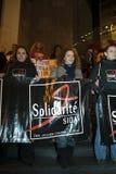 Welt-Aids-Tag, Paris, Zeichen Lizenzfreie Stockbilder