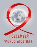 Welt-Aids-Tag-Plakat Lizenzfreie Stockbilder