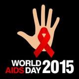Welt-Aids-Tag, Plakat und Zitate, inspirierend Mitteilung Stockbilder