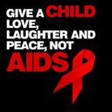 Welt-Aids-Tag, Plakat und Zitate, inspirierend Mitteilung Lizenzfreies Stockbild