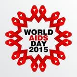 Welt-Aids-Tag, Plakat und Zitate, inspirierend Mitteilung Stockbild
