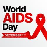 Welt-Aids-Tag, Plakat und Zitate, inspirierend Mitteilung Lizenzfreies Stockfoto
