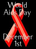 Welt-Aids-Taggraphik Stockbilder