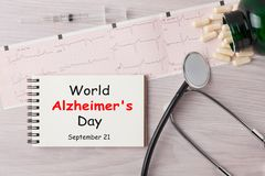 Welt-Alzheimer-` s Tag stockbild