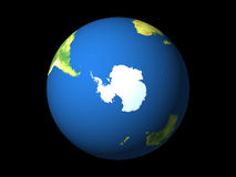 Welt, Antarktik, südliche Hemisphäre Lizenzfreies Stockbild