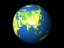 Welt, Asien stock abbildung